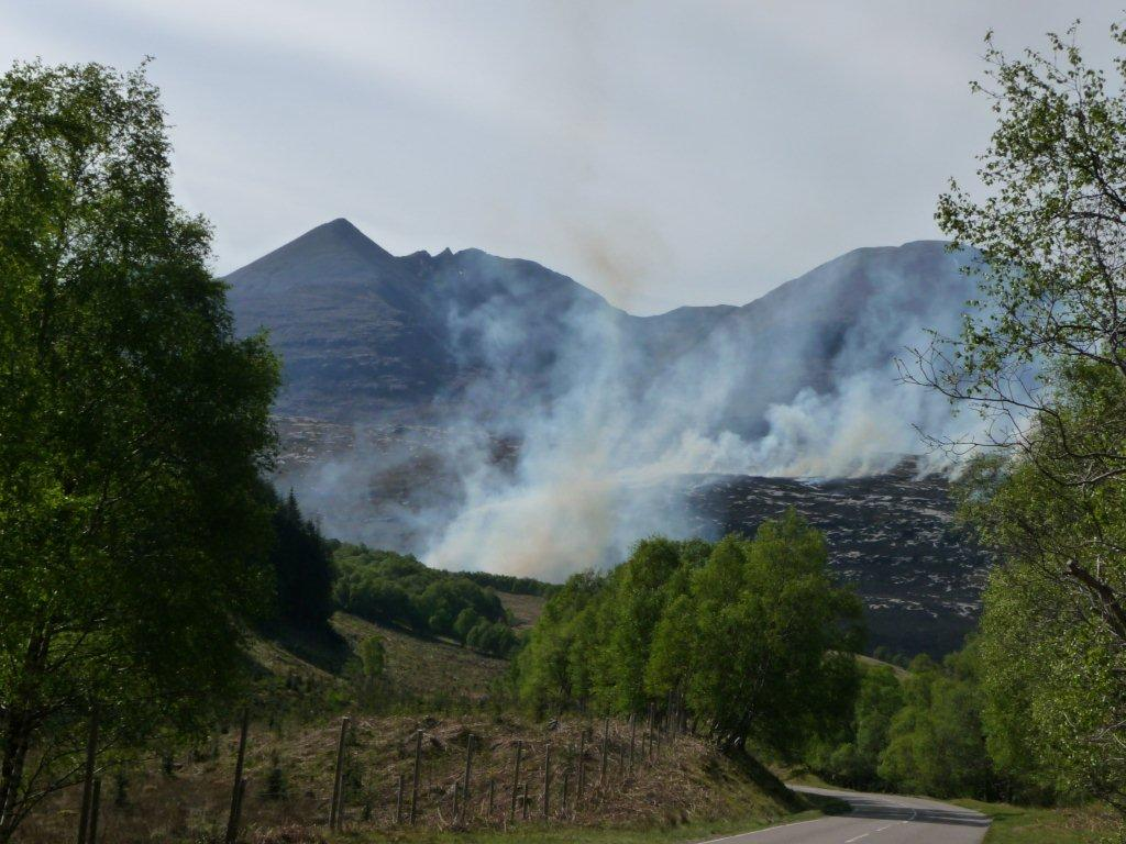 An Teallach burning