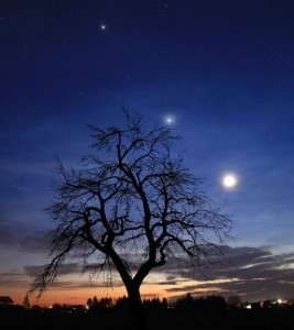 Spaceweather photo of Jupiter / Venus / the moon, 24th Feb, by Rafael Schmall in Hungary