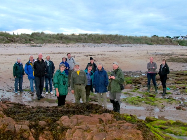 The TDFC group on the exposed beach.